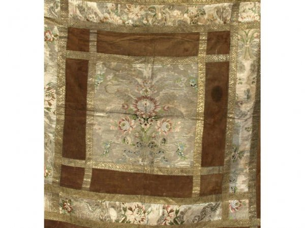 131: 18th Century Brocade Table Covering - 2