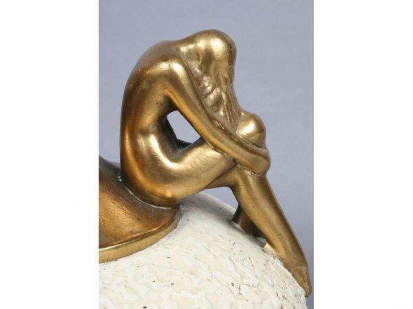 285: Olive Kooken Bronzed Art Deco Nude Lamp - 4