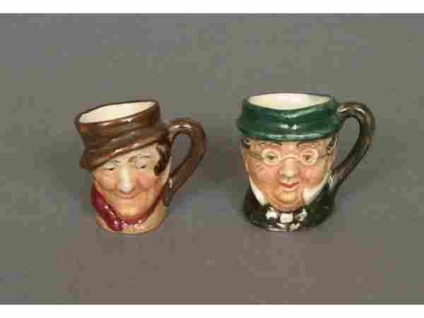 Two Royal Doulton Tiny Toby Mugs