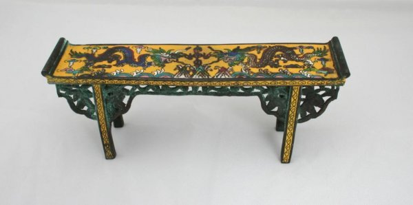 20: 19thc. Chinese Cloisonne Miniature Altar
