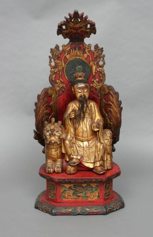 21: 19th c. Chinese Wood and Lacquer Shrine
