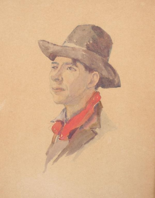 404: 20th c. American Illustration of Scout or Ranger