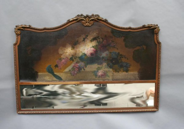 407: Floral Painted Headboard and Wall Plaque
