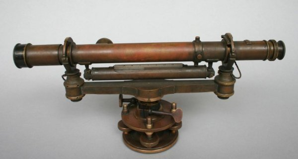 415: Wm. J. Young & Sons Surveyors Level in Case