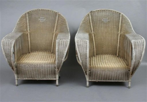 743 Suite Of Art Deco Style Vintage Wicker Furniture