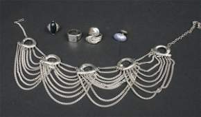 784: Group Vintage Sterling and Costume Jewelry
