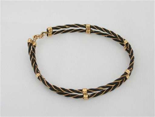 Elephant hair bracelet gold price in india