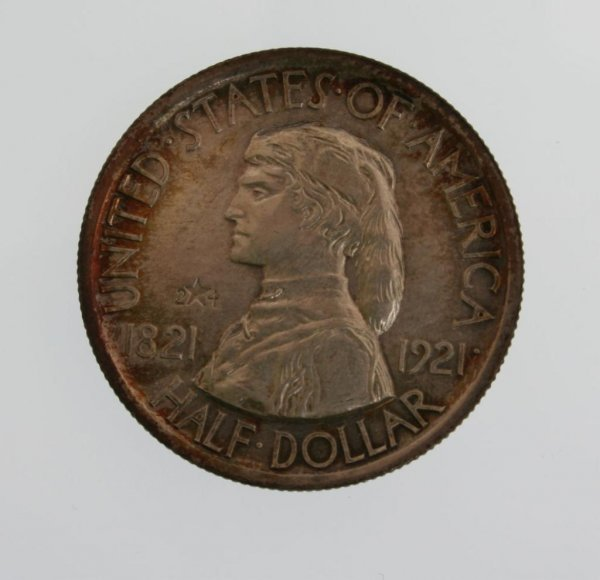 1: 1921 Missouri 2X4 Commemorative Half Dollar