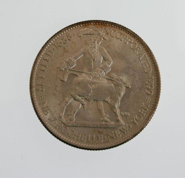 15: 1938 New Rochelle Commemorative Half Dollar Coin