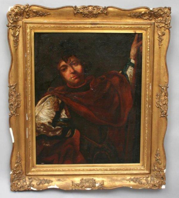 19: 17th c. Spanish School Cavalier Oil Painting