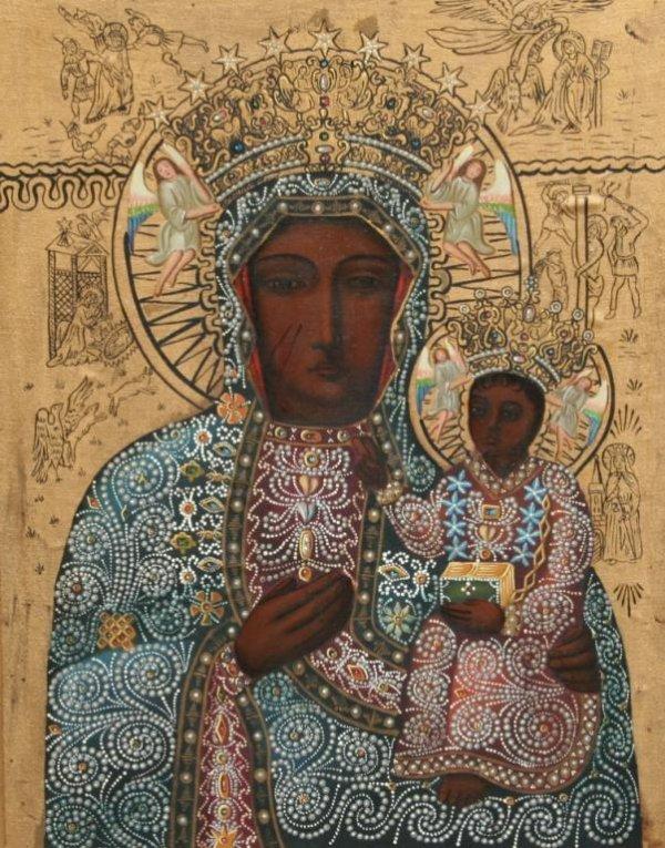 23A: Modern Black Madonna of Czestochowa Icon