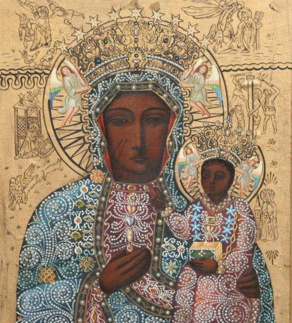 23A: Modern Black Madonna of Czestochowa Icon - 3