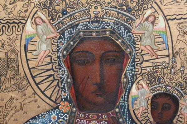 23A: Modern Black Madonna of Czestochowa Icon - 5
