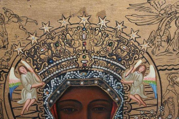 23A: Modern Black Madonna of Czestochowa Icon - 8