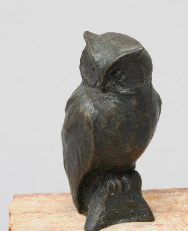 239: Siggy Puchta Bronze Owl Sculpture Canada - 2