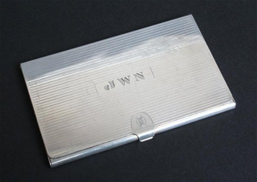 356 Cartier Sterling Silver Card Case