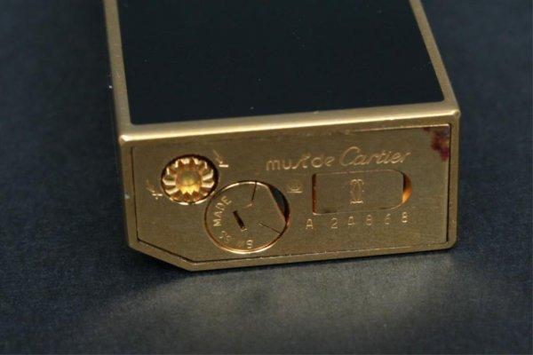 357: Black Enamel Cartier Lighter France - 5