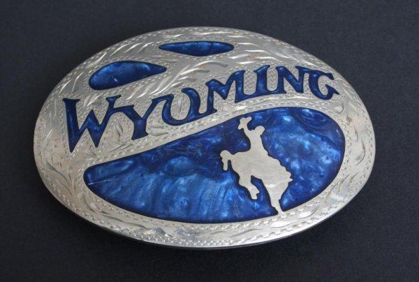 360: Vintage Wyoming Belt Buckle