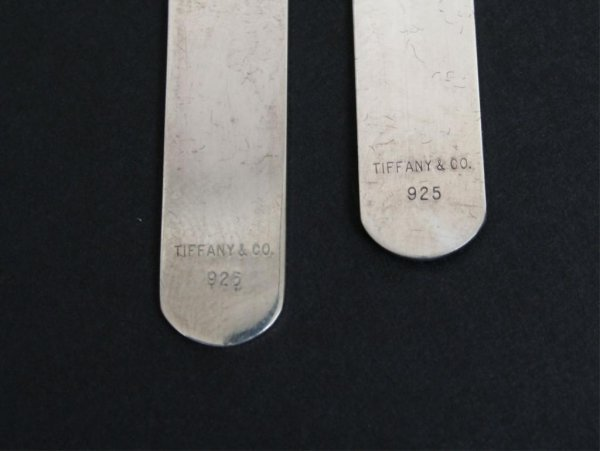 369: Pair Tiffany Sterling Silver Collar Stays - 3