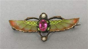 407: Continental Egyptian Revival Style Brooch