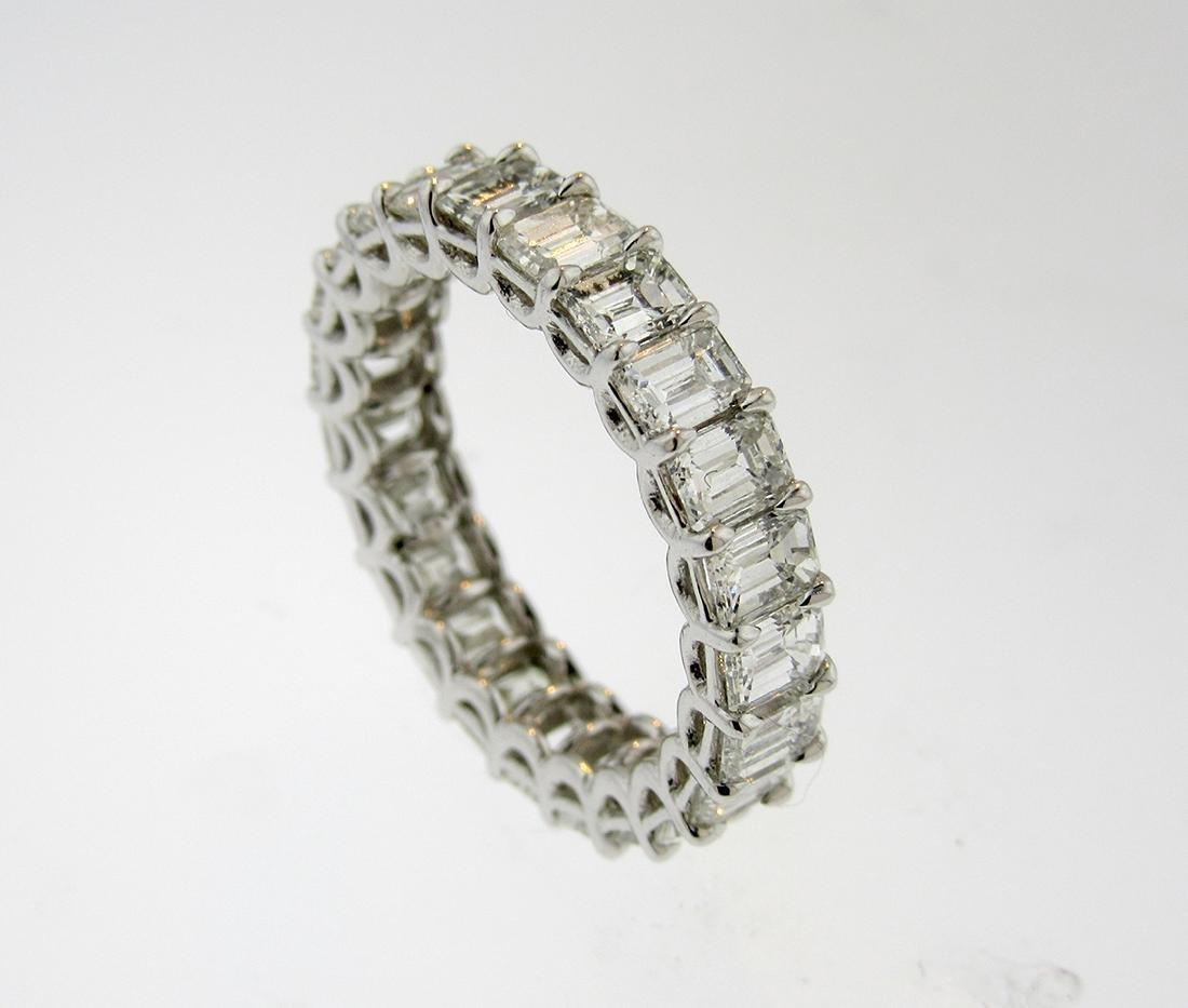 GRAFF Platinum  4.6TCW Baguette Diamond Wedding Band