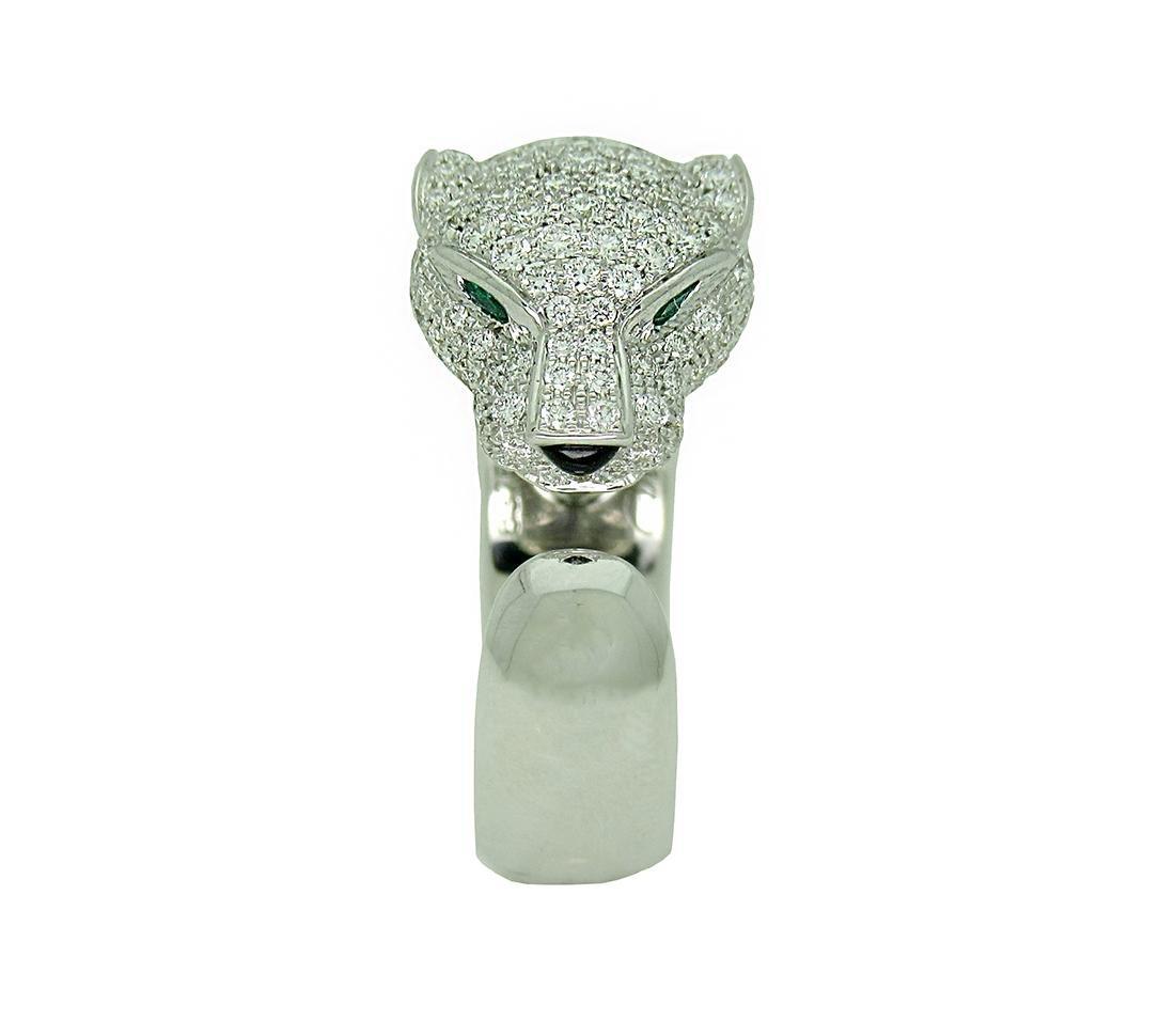 Panthere de Cartier 18k White Gold Diamond Emerald Onyx
