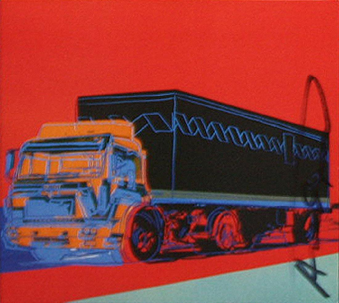 ANDY WARHOL Title: TRUCKS INVITATION  OFFSET LITHOGRAPH