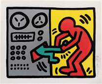 KEITH HARING Title: POP SHOP III (1)  SCREENPRINT