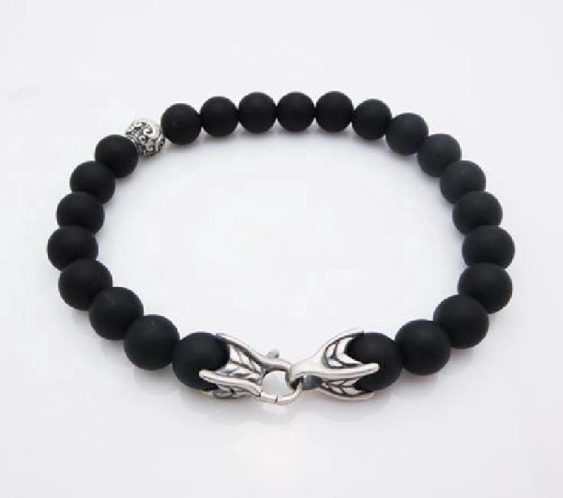 DAVID YURMAN 8mm Spiritual Bead Black Onyx Bracelet