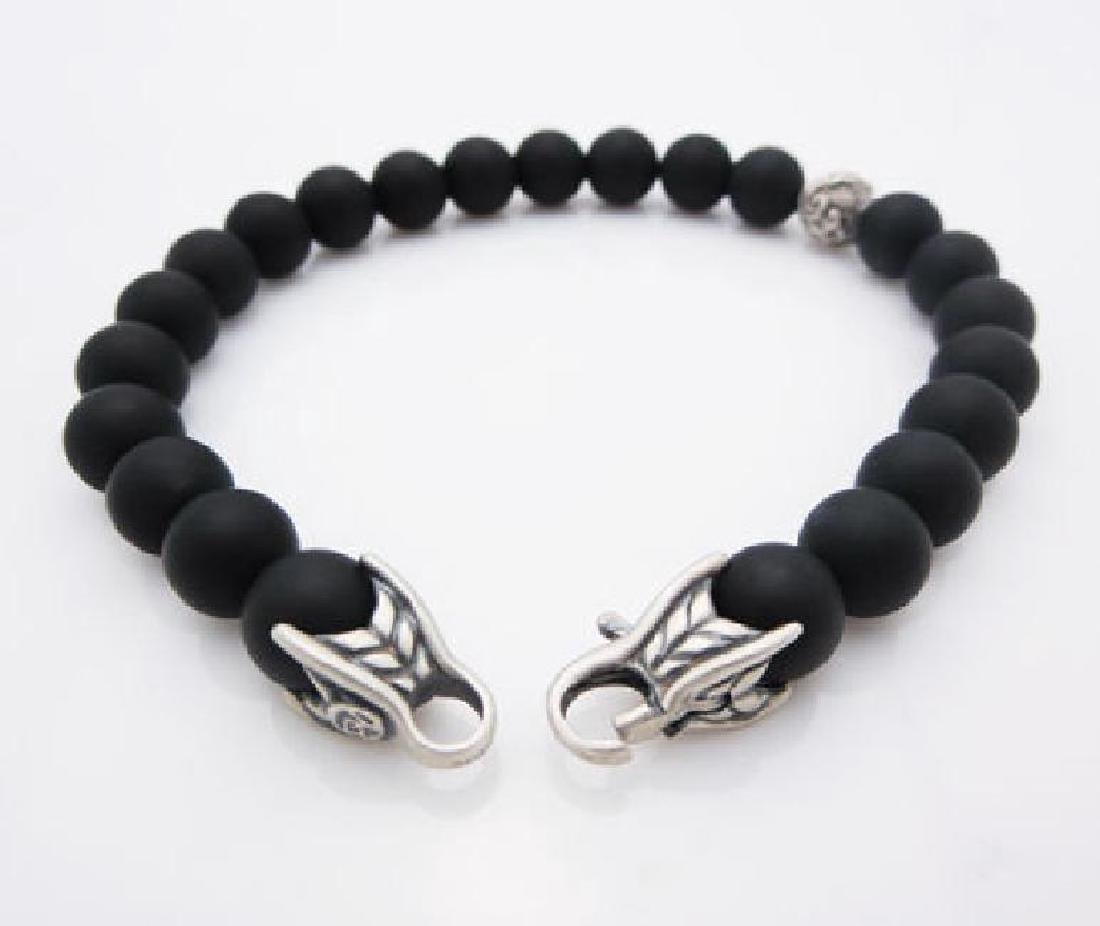 DAVID YURMAN 8mm Spiritual Bead Black Onyx Bracelet - 4