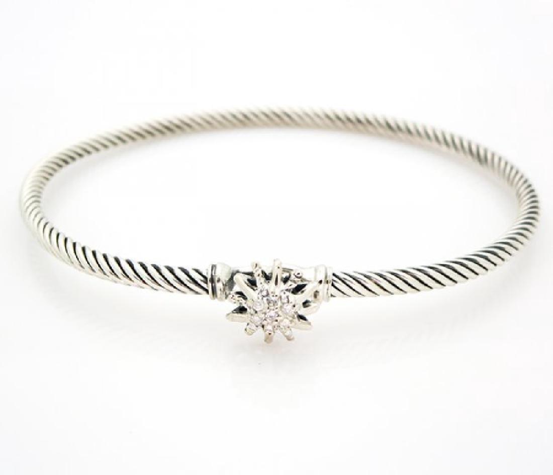 David Yurman Starburst Single-Station Cable Bracelet - 7