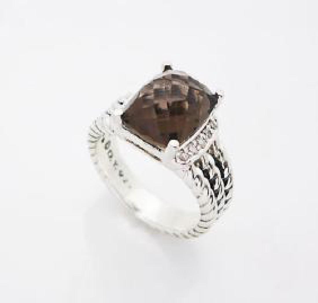 David Yurman Petite Wheaton  Quartz & Diamond Ring