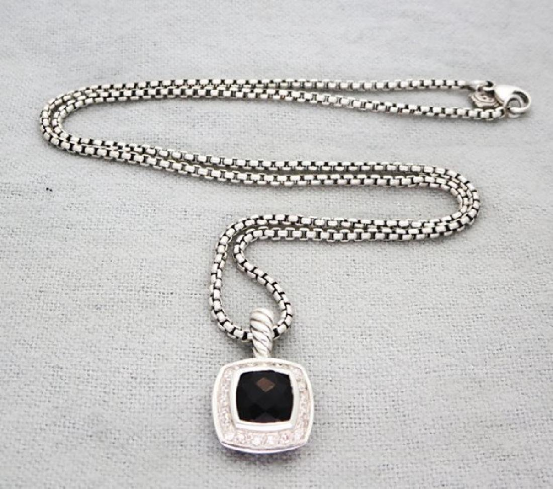 David Yurman Petite Albion Pendant Necklace Onyx - 8