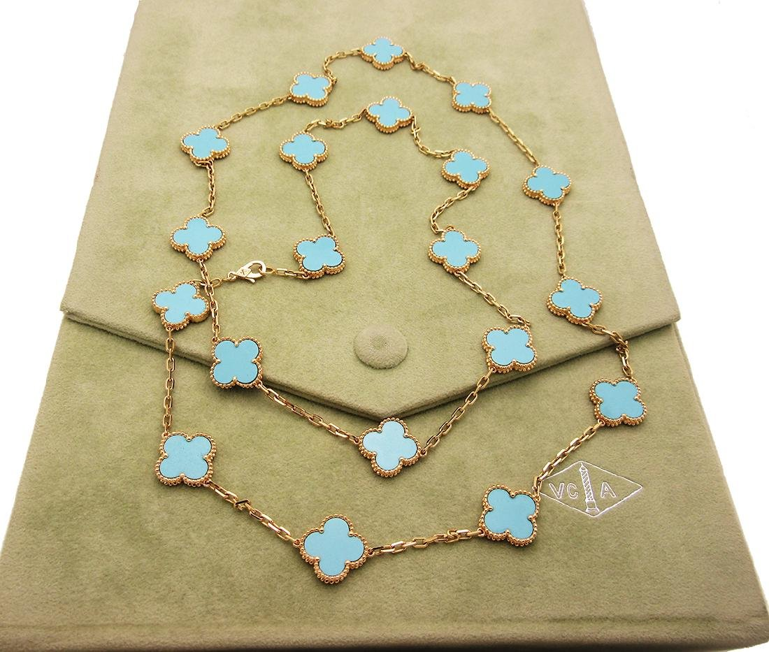 Van Cleef & Arpels 18k  20 Motif Turquoise Alhambra