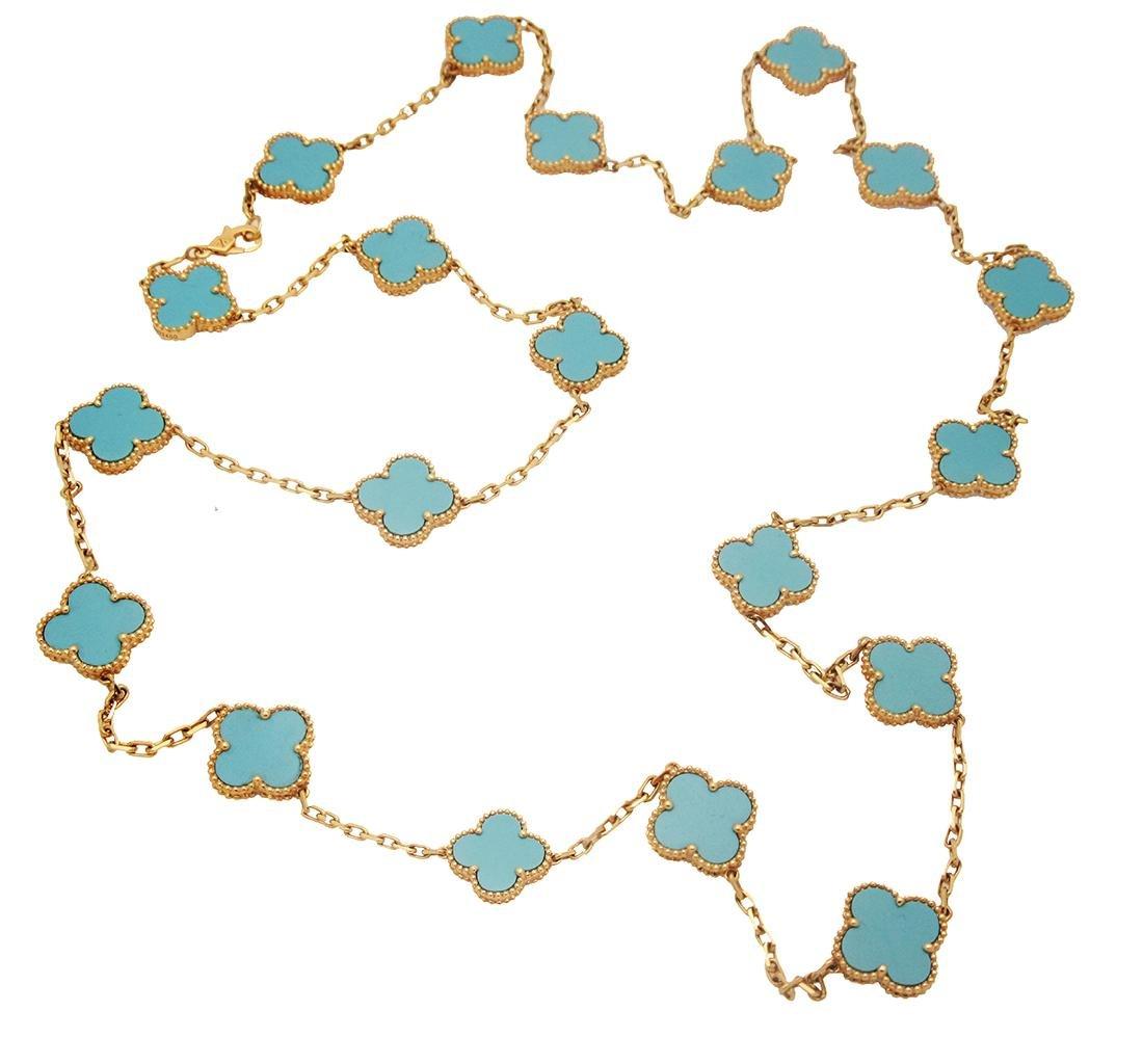 Van Cleef & Arpels 18k  20 Motif Turquoise Alhambra - 2