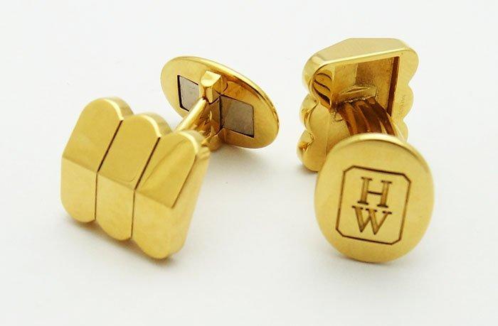 Harry Winston 18K Yellow Gold Cufflinks