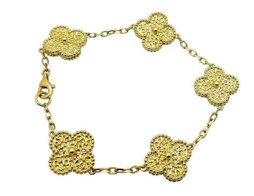 c3e69693f15d9 Van Cleef   Arpels Vintage Alhambra 5 Motif Bracelet