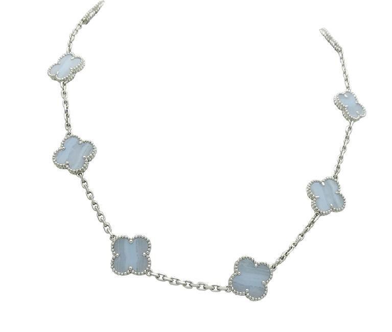 Van Cleef & Arpels Alhambra 18K Chalcedony 10 Necklace