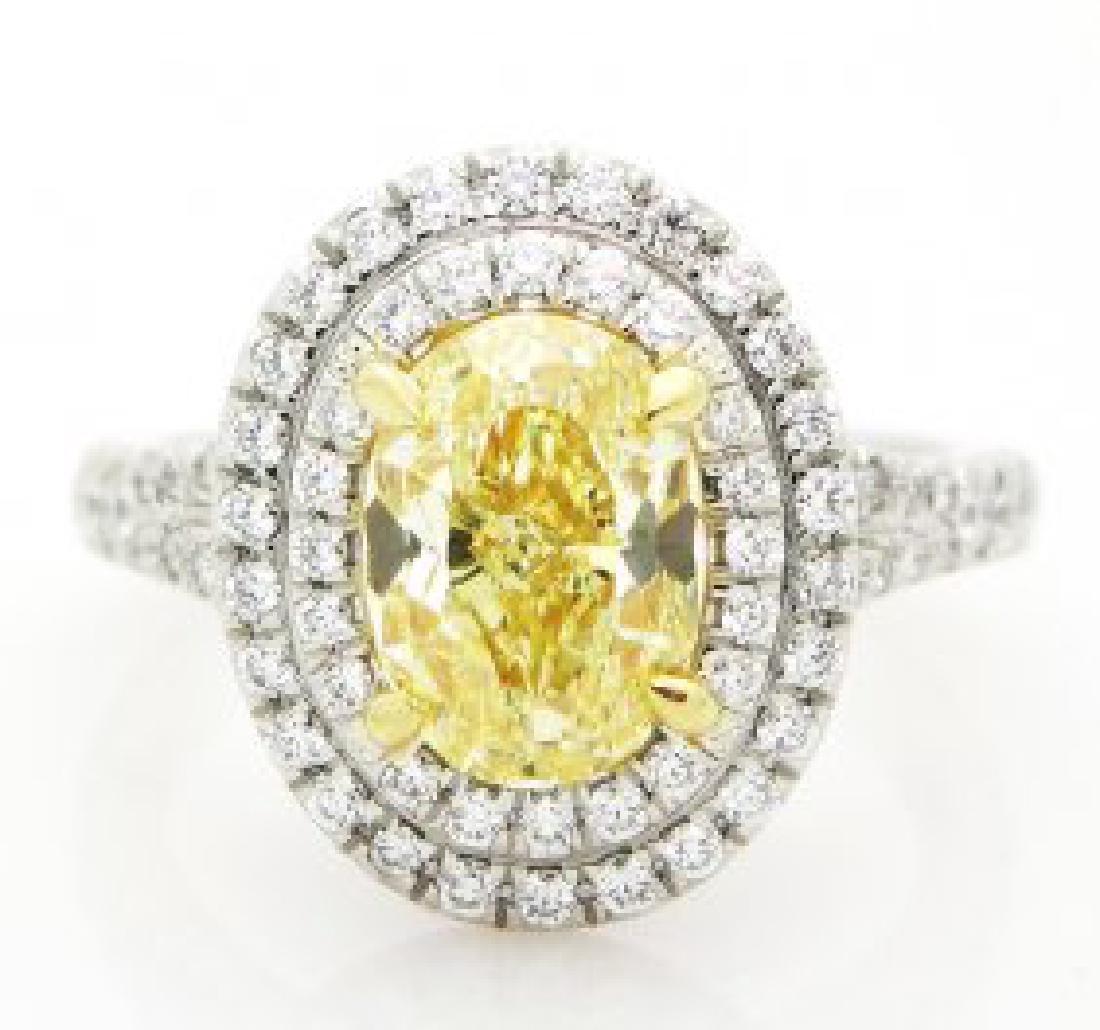 Tiffany & Co. Fancy Yellow Diamond Platinum Ring