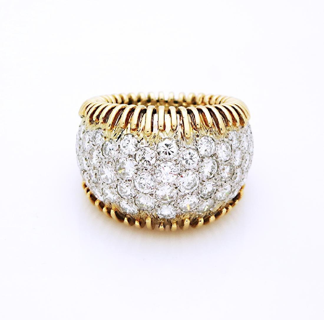 18K Yellow Gold, Schlumberger Style Ring