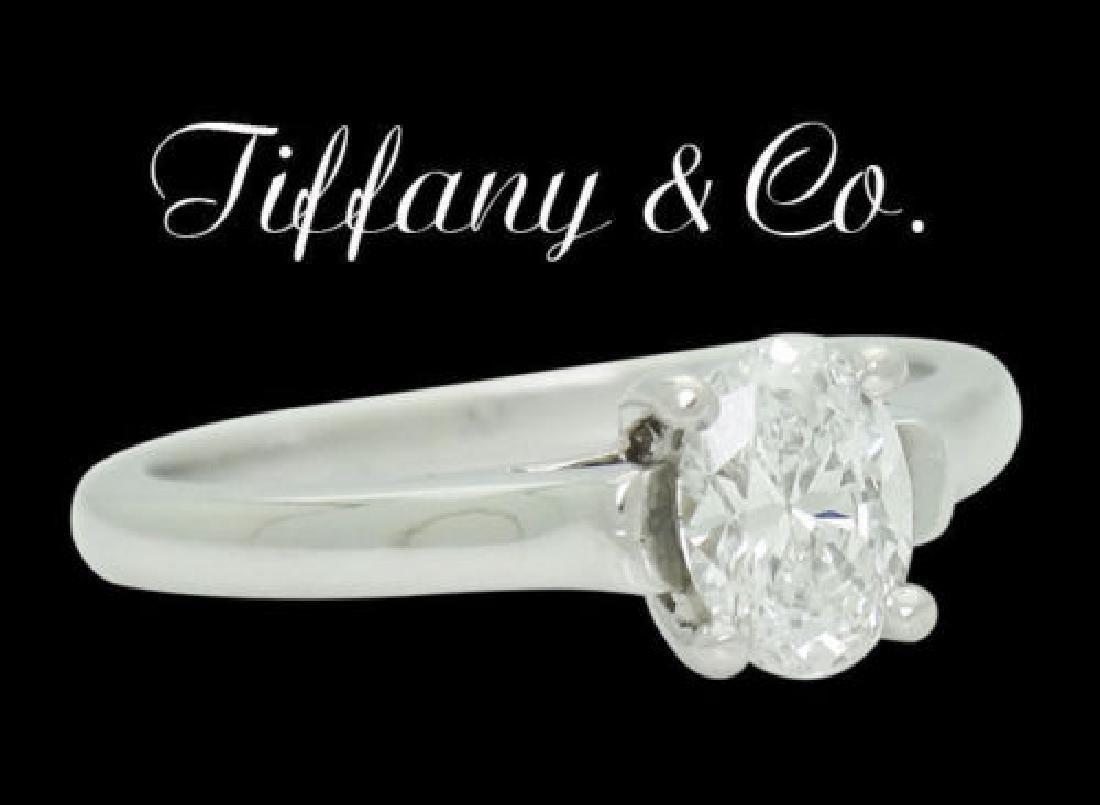 Tiffany & Co Platinum 0.50 Carat Diamond Engagement