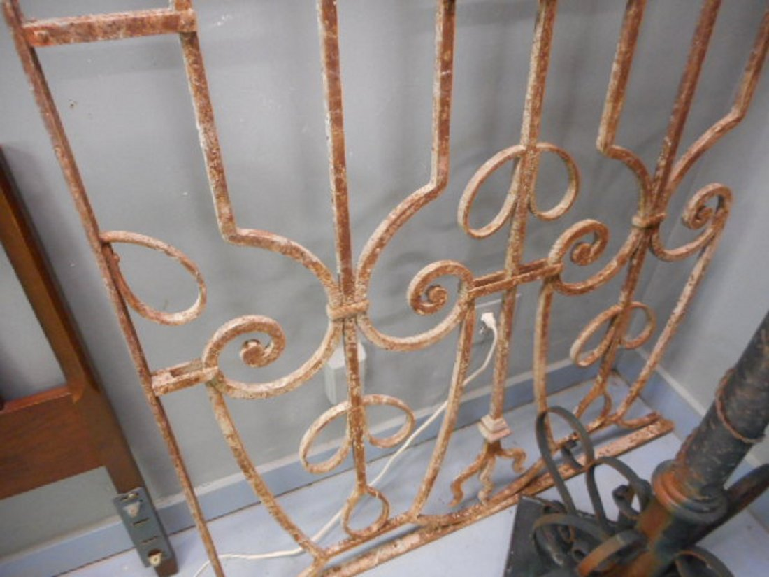 Antique Victorian Iron Gate Garden Fence Architectural - 3