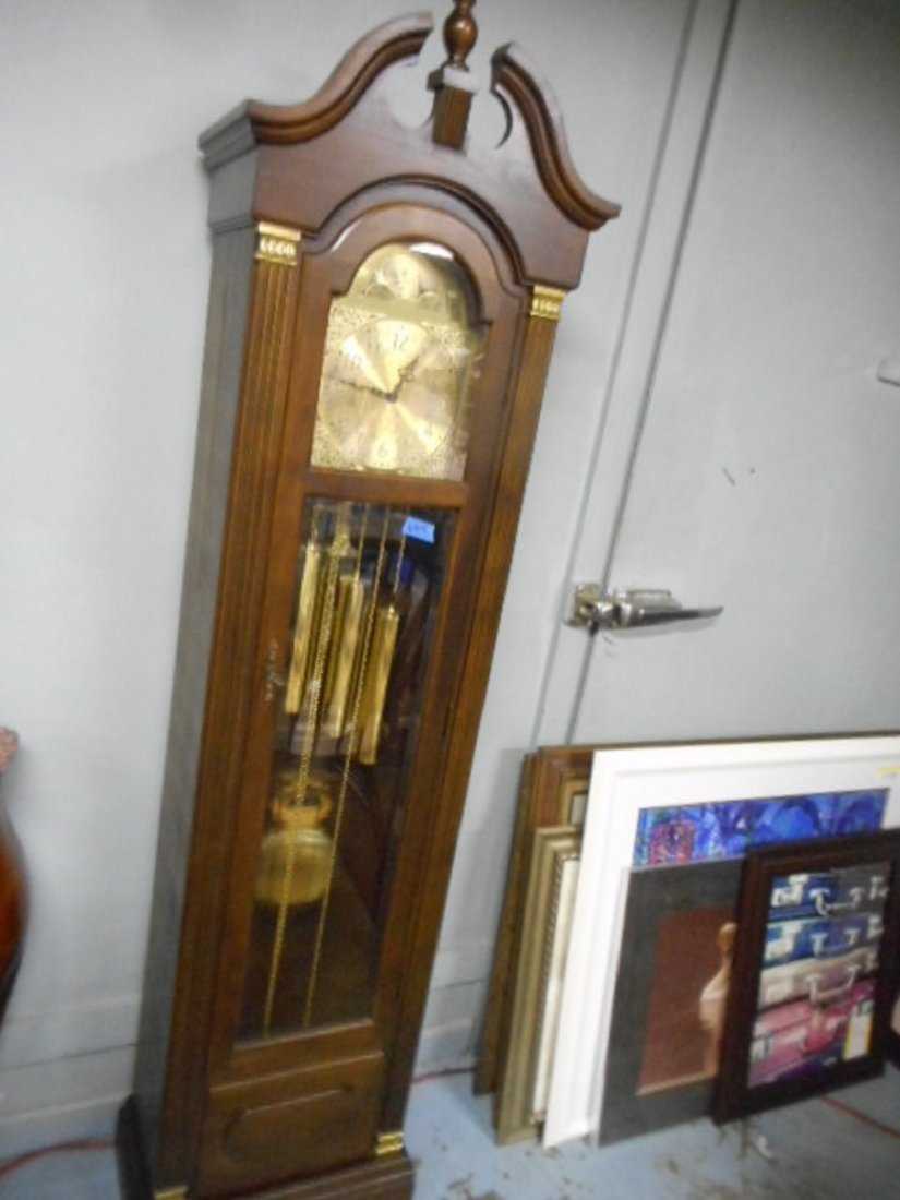 Hermle black forest grandfather clock West Germany