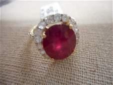 14K yellow gold ladies ruby & diamond Ring W/appraisal