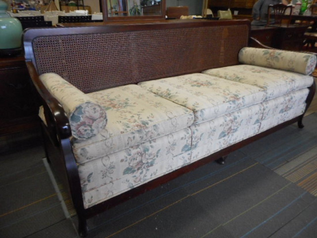 Antique Kroehler ? Sofa with cane back  1900's - 2