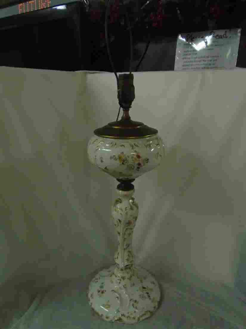 Antique Victorian Electrified Parlor banquet lamp