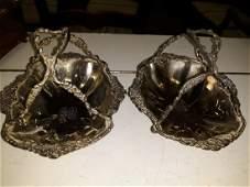victorian silver bon bon trays RARE matched pair beauty