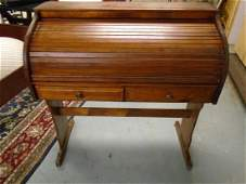 vintage roll top desk, tambour