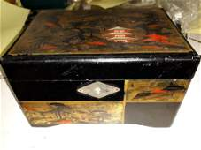 vintage 1940s tilso japan musical jewelry box