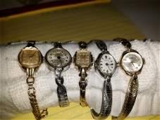vintage ladies 50's -60's watch lot benrus works